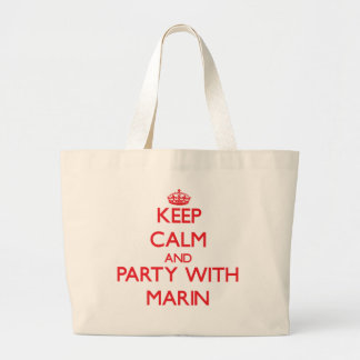Keep Calm and Party with Marin Canvas Bags