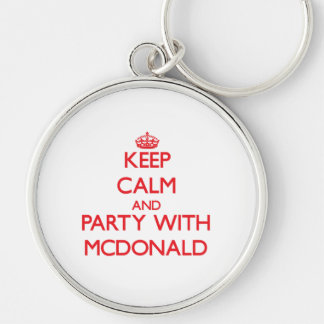 Keep calm and Party with Mcdonald Keychains