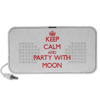 Keep calm and Party with Moon Travel Speakers
