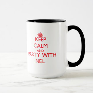 Keep calm and Party with Neil Mug