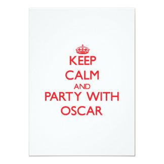 Keep calm and Party with Oscar Card