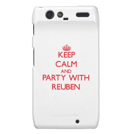 Keep calm and Party with Reuben Motorola Droid RAZR Case