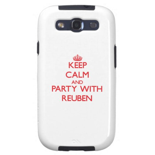 Keep calm and Party with Reuben Galaxy SIII Cover