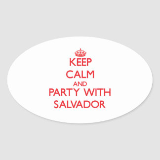 Keep calm and Party with Salvador Sticker