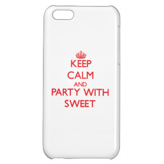 Keep calm and Party with Sweet iPhone 5C Covers