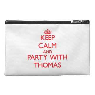 Keep calm and Party with Thomas Travel Accessories Bags