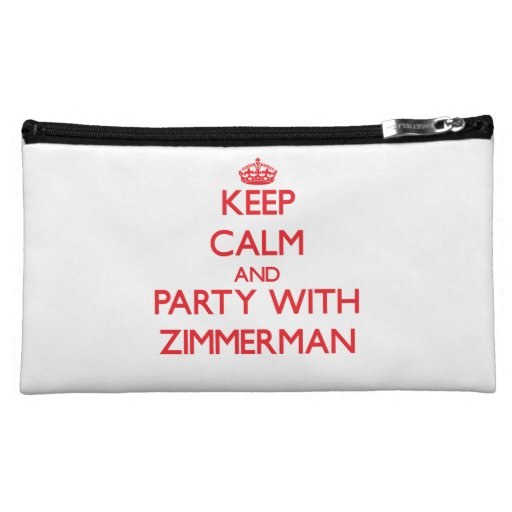 Keep calm and Party with Zimmerman Cosmetic Bag