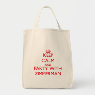 Keep calm and Party with Zimmerman Canvas Bags