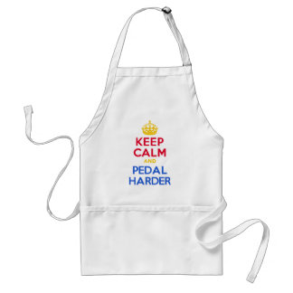 KEEP CALM and PEDAL HARDER Standard Apron