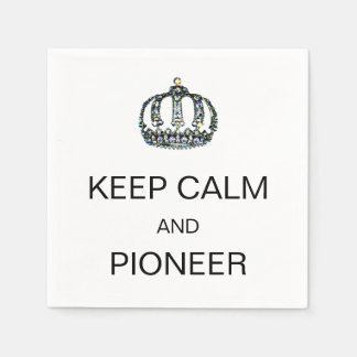 """KEEP CALM AND PIONEER"" PAPER NAPKIN"