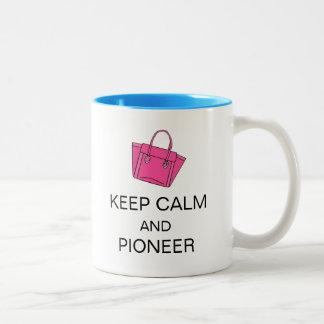 KEEP CALM AND PIONEER Two-Tone MUG