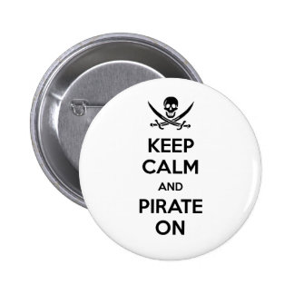 Keep Calm and Pirate On 6 Cm Round Badge