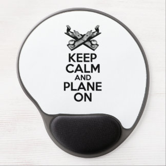 Keep Calm and Plane On Gel Mouse Pad