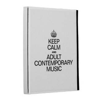 KEEP CALM AND PLAY ADULT CONTEMPORARY MUSIC iPad FOLIO CASE