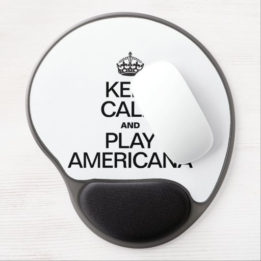 KEEP CALM AND PLAY AMERICANA GEL MOUSE MATS