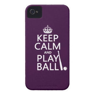 Keep Calm and Play Ball (baseball) (any color) iPhone 4 Case-Mate Cases