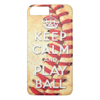 keep calm and play ball iPhone 7 plus case