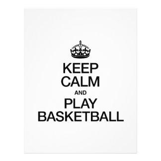 KEEP CALM AND PLAY BASKETBALL FLYERS