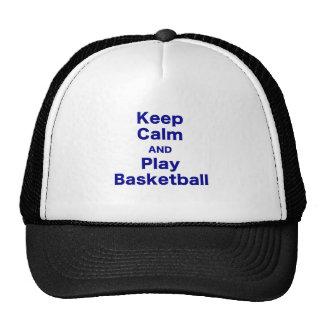 Keep Calm and Play Basketball Hat