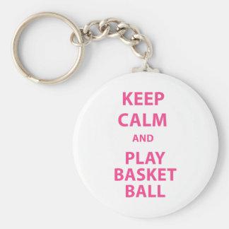 Keep Calm and Play Basketball Key Chains