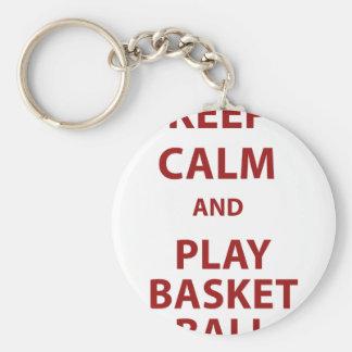 Keep Calm and Play Basketball Keychain