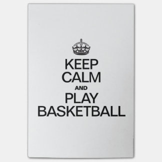 Keep Calm and Play Basketball Post-it Notes