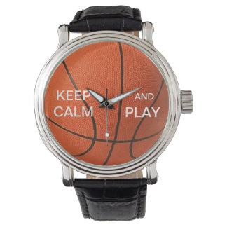 KEEP CALM AND PLAY BASKETBALL WATCH