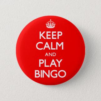 Keep Calm and Play Bingo (Carry On) 6 Cm Round Badge