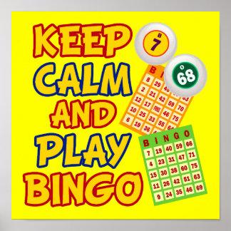 Keep Calm and Play Bingo Poster