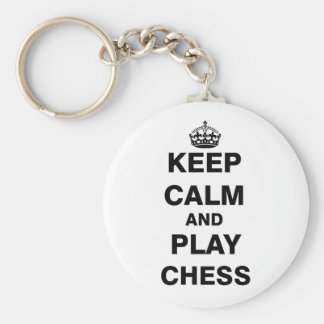 Keep Calm and Play Chess Key Ring