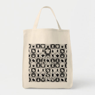 Keep Calm and Play Chess Grocery Tote Bag