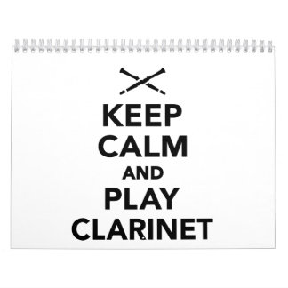 Keep calm and Play clarinet Calendar