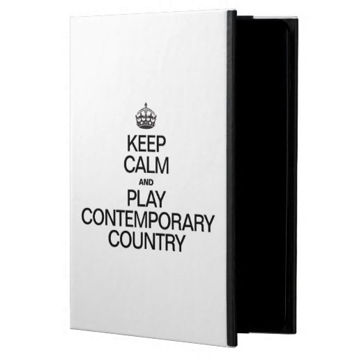 KEEP CALM AND PLAY CONTEMPORARY COUNTRY CASE FOR iPad AIR