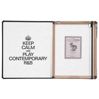 KEEP CALM AND PLAY CONTEMPORARY R&b iPad Folio Cover