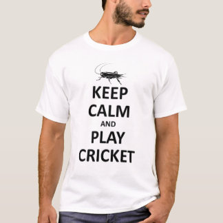 Keep calm and play Cricket T-Shirt
