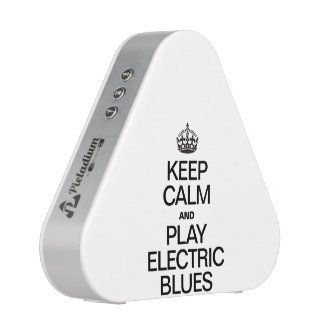 KEEP CALM AND PLAY ELECTRIC BLUES SPEAKER