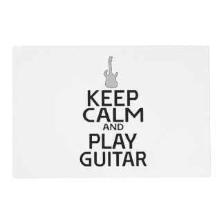Keep Calm and Play Electric Guitar - Custom Color Placemat