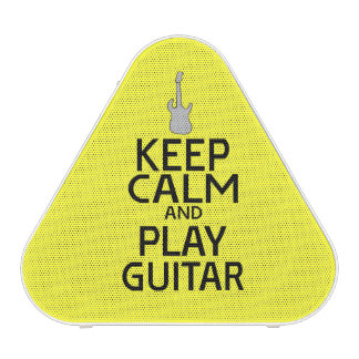 Keep Calm and Play Electric Guitar - on Yellow