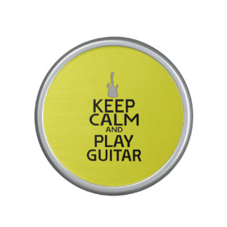 Keep Calm and Play Electric Guitar - on Yellow Speaker