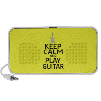 Keep Calm and Play Electric Guitar - on Yellow Notebook Speakers
