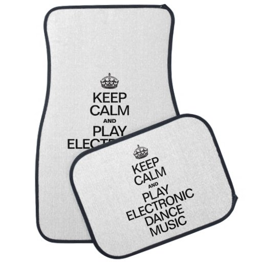 KEEP CALM AND PLAY ELECTRONIC DANCE MUSIC FLOOR MAT