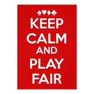 Keep Calm And Play Fair Card