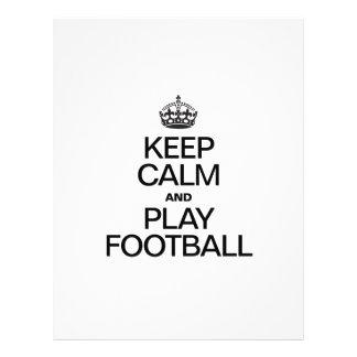 KEEP CALM AND PLAY FOOTBALL CUSTOM FLYER