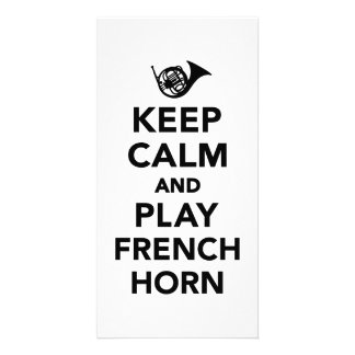 Keep calm and play french horn photo card