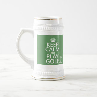 Keep Calm and Play Golf - all colors Beer Stein