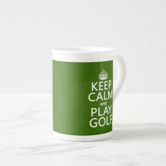 Keep Calm and Play Golf - all colors Bone China Mug