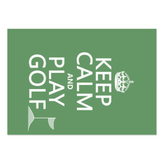 Keep Calm and Play Golf - all colors Business Cards