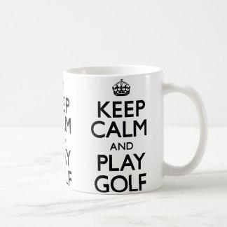 Keep Calm and Play Golf (Carry On) Coffee Mugs