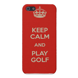 Keep Calm and Play Golf iPhone Case iPhone 5 Cases