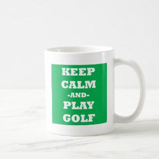 Keep Calm And Play Golf Mug
